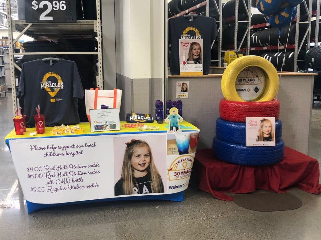 Local Walmart stores raise money for Sacred Heart Children's